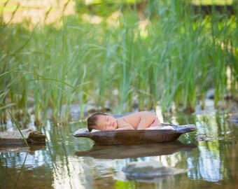 Newborn Photography digital drop prop background (Reeds and Water)