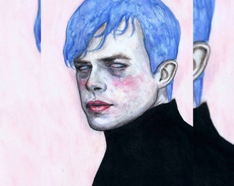 ROSY CHEEKS Dane DeHaan original painting