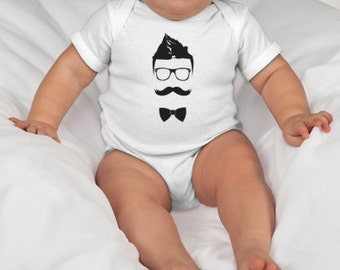 Hipster Baby Onesie or Toddler Tee
