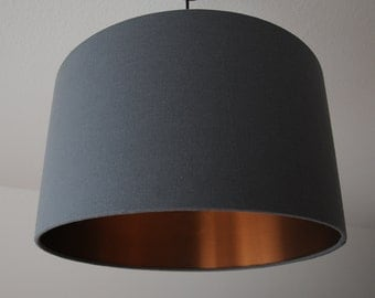 "Lampshade ""Graphite-copper"""