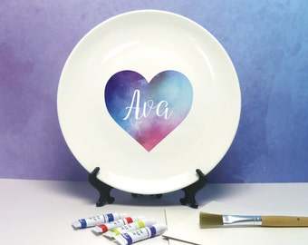 Design Your Own Abstract Watercolour Art Plate