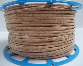 Natural Portuguese Cork,Cork Cord 3mm(1 Meter).