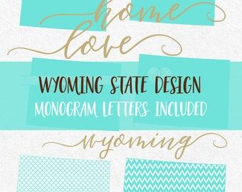 Wyoming State Svg SVG font Svg monogram font Cricut svg Silhouette svg designs state png dxf jpg svg bundle cutting files mermaid frame