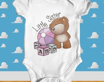 Little Sister baby bodysuit | baby girl clothes | baby girl outfit | baby sister bodysuit | baby shower gift | little sister baby bodysuit