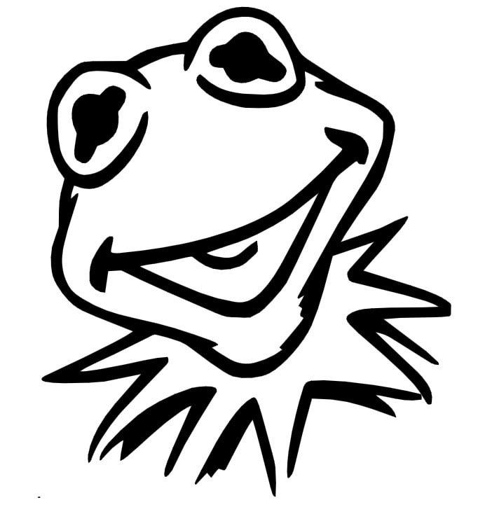 Muppets Kermit The Frog Vinyl Decal Sticker Car Window Vehicle