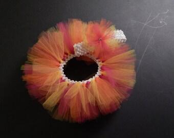 Infant tutu with matching headband - Sunburst
