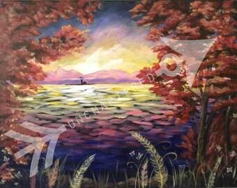 Serenity  Original Acrylic Print