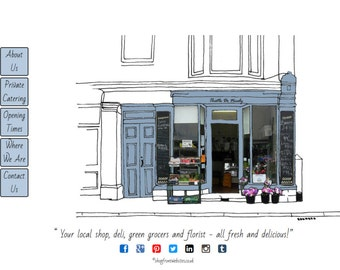 Example of Shopfront Website
