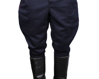 Soviet NKVD Blue Galife trousers USSR military riding breeches