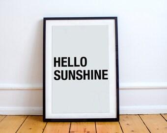 Hello Sunshine Printable