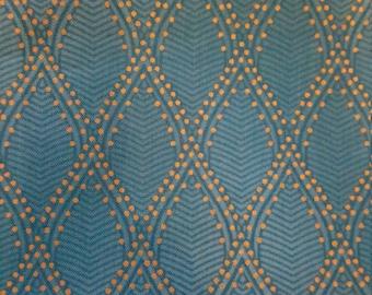 Light Blue Royal Mendhi Quilting Fabric