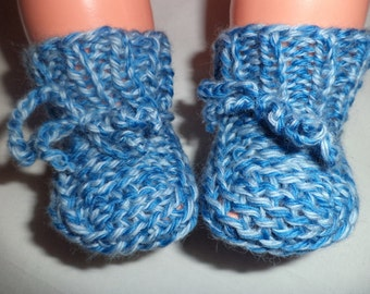 Baby shoes knit 50/56 wool wool socks shoes