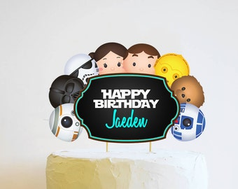 Star Wars Cake Topper. Star Wars Birthday. Star Wars Party. Tsum Tsum Party. Party Supplies. Baby Shower. DIGITAL FILE