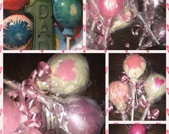 Balloon chocolate lollipops