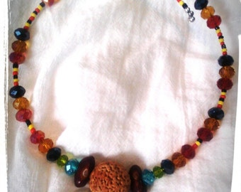 Quandong and Initi seed Necklace