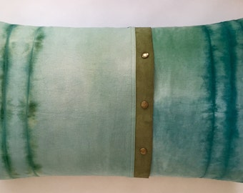 Unique hand made pillow in natural materials
