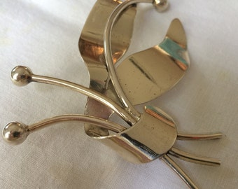 1950's Sterling Brooch, Napier Mid-Century Statement Jewelry!