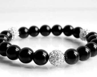 Stone Bracelet Black Onyx from Laura May