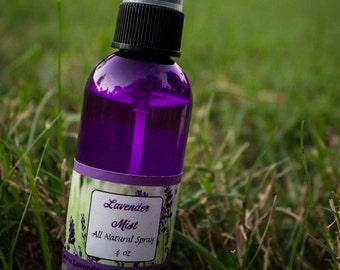 4 oz Lavender Mist, Lavender Spray, Essential Oil, Lavender Mist