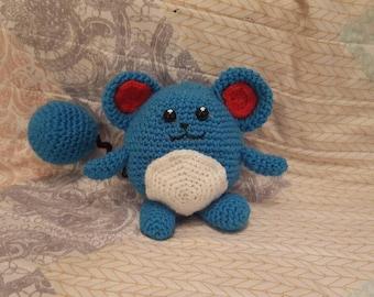 Crochet Marill pokemon plush handmade
