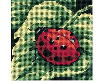 Needlepoint Kit - Dimensions - Mini Kits - 5 x 5 in - Ladybug, Ladybug - #07170