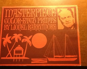 Vintage Masterpiece Color-Etched Prints by Lionel Barrymore