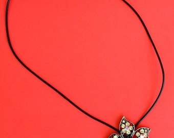 Studed flower necklace