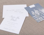 Silver Dust Wedding Collection by Paper Daisies, Save the Dates, Modern, SAMPLE SET