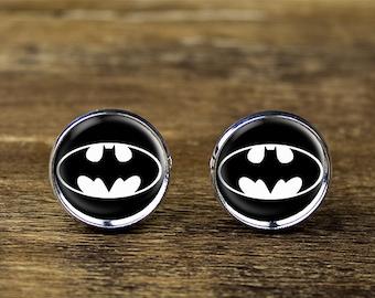 Batman cufflinks, Batman jewelry, Batman accessories
