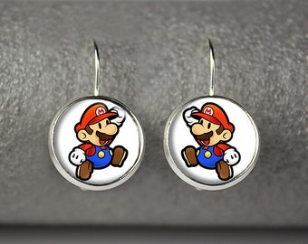 Super Mario earrings, Super Mario jewelry, Super Mario accessories