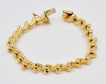 14K Gold Bracelet,  7 1/8'' long