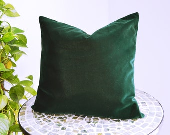 Deep Green Velvet Cushion