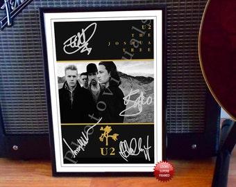 Bono U2 The Joshua Tree 1987 UK Promo Concert Tour Flyer Autographed Signed Photo Print