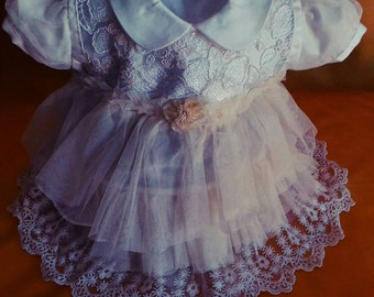 children dress with lace and ruffles