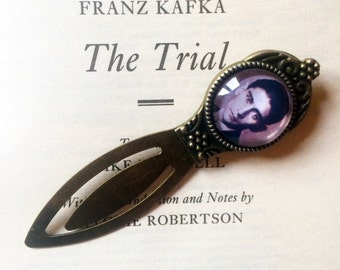 Kafka Bookmark - Franz Kafka Bookmark, The Metamorphosis Bookmark, Die Verwandlung, The Trial, Der Process, Vintage Kafkaesque Bookmark
