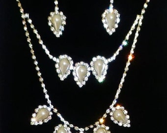 vintage style two tire rhinestone cz crystal bridal wedding pageant prom accessories jewelry gift