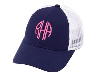 Monogram Trucker Hat, Personalized Trucker Hat, Embroidered Trucket Hat, Monogram Trucker Cap, Personalized Trucker Cap, Monogram Mesh Cap