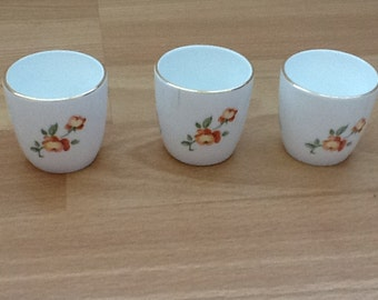 Vintage 3x Crown Staffordshire Egg Cup Holders