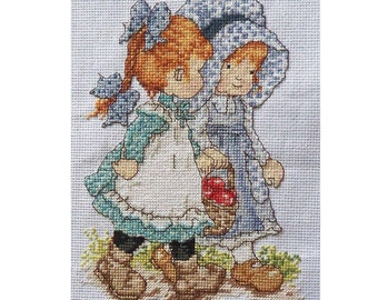"""Finished Handmade Cross Stitch """"Best Friend"""", ready to be framed, impressive gift"""