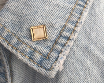 Vintage Gold Square Lapel Pin (stock #001)