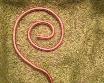 Copper Swirl Hair Stick