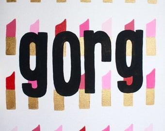 "Lipstick ""Gorg"" Wall Painting"