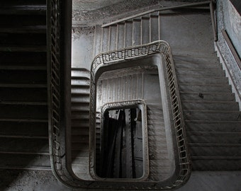 Staircase in an abandoned building / Staircase in an abndoned building