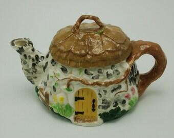 Vintage Folk Art, Woodland, Fairy House Teapot