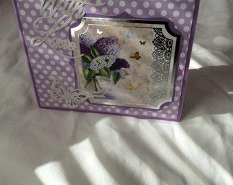 Lilac spotty butterfly love