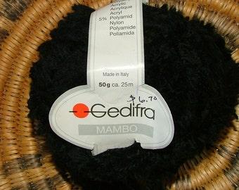 Gedifra Mambo Made in Italy Color No 1914 Lot No 758 Black Crochet Knit