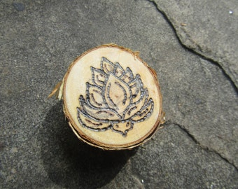 "Wood Burned Pendant- ""Growth"""