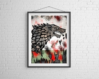 Game Of Thrones Art Etsy - Game of thrones pet paintings