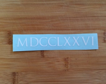 1776 roman numeral decal