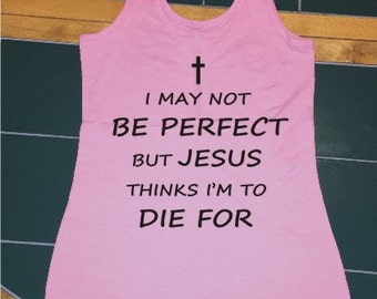 Pink Tank Size Small Religious/Christian